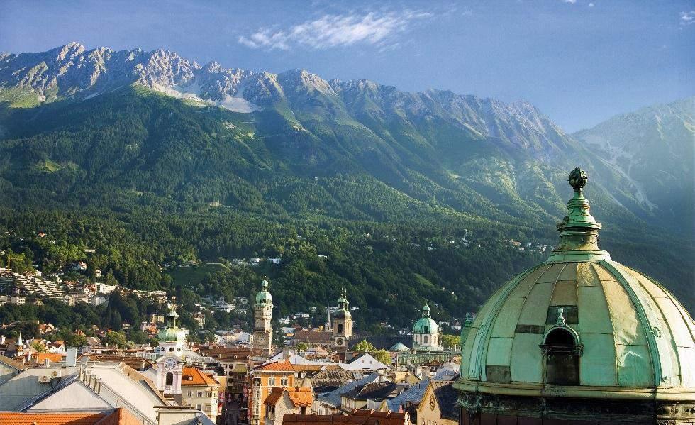 пейзаж от инсбрук, австрия, тирол
