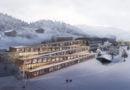 Швейцарски хотел със ски писта на покрива