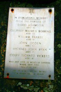 паметна плоча от трагедията в пещерната система мосдейл