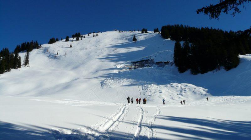 ски писта, лавина