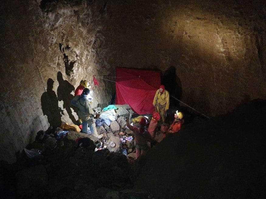 бивак пещера Недем, Хърватия