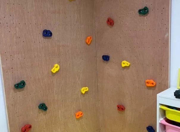 катерачна стена от подръчни материали