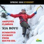 Алпинист с два ампутирани крака изкачи Еверест