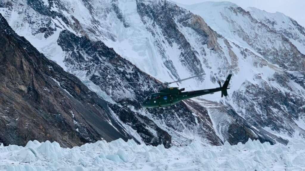 хеликоптер на к2