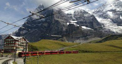 Юнгфраубан, с влак до Върха на Европа