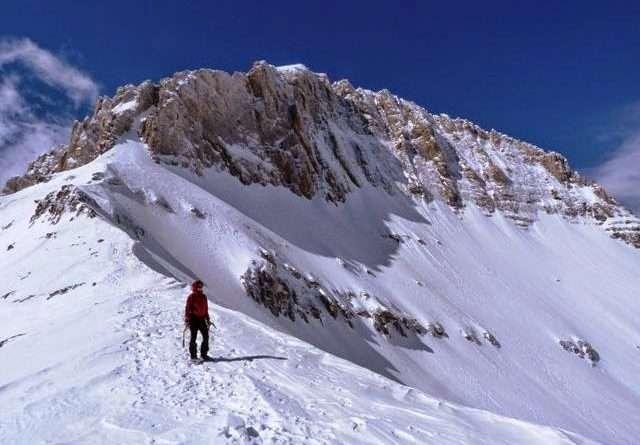 връх митикас, олпимп през зимата