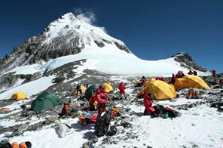 Лагер 4 на Южното седло на Еверест