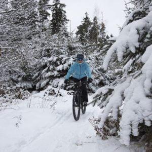 маунтинбайк сняг