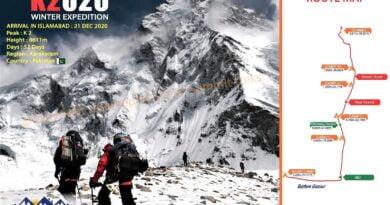 плакат зимна експедиция на к2