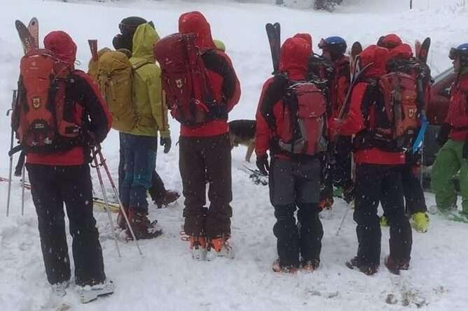 планински сапсители в Рила, зима