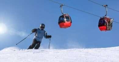ски писта и кабинков лифт