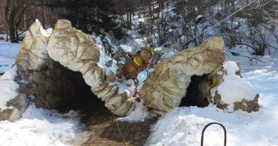 вход пещера леденика